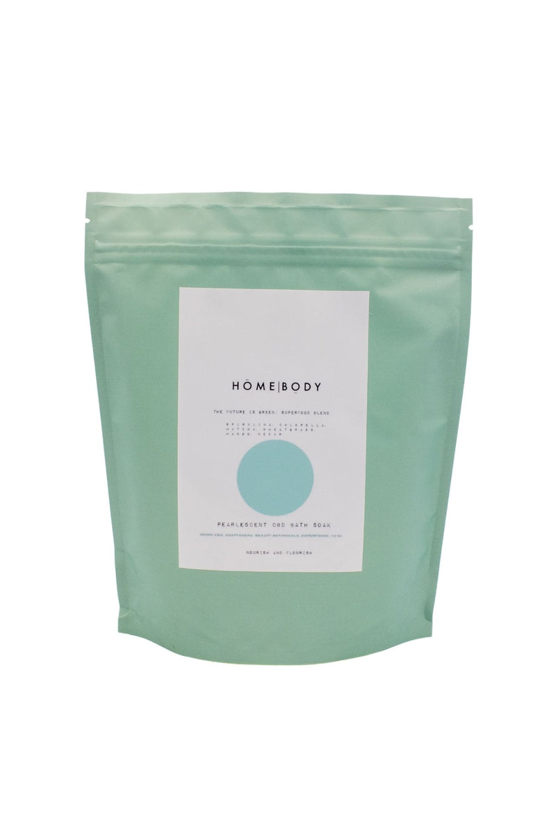 Homebody The Future Is Green: Superfood Blend Pearlescent CBD Bath Soak