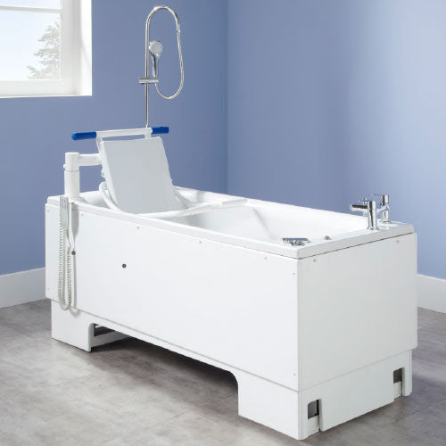 Care Home Height Adjustable Bath DETACHABLE POWERED SWING SEAT AND TRANSPORTER  (Elegance Package)