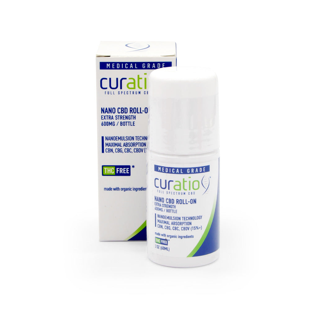 Curatio 600mg Extra Strength Nano Roll-On - Sleeve
