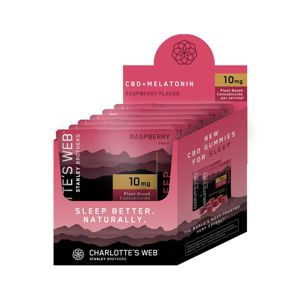 Charlotte's Web Sleep Gummies - Raspberry - 60mg | 10ct | 6 Pack PDQ