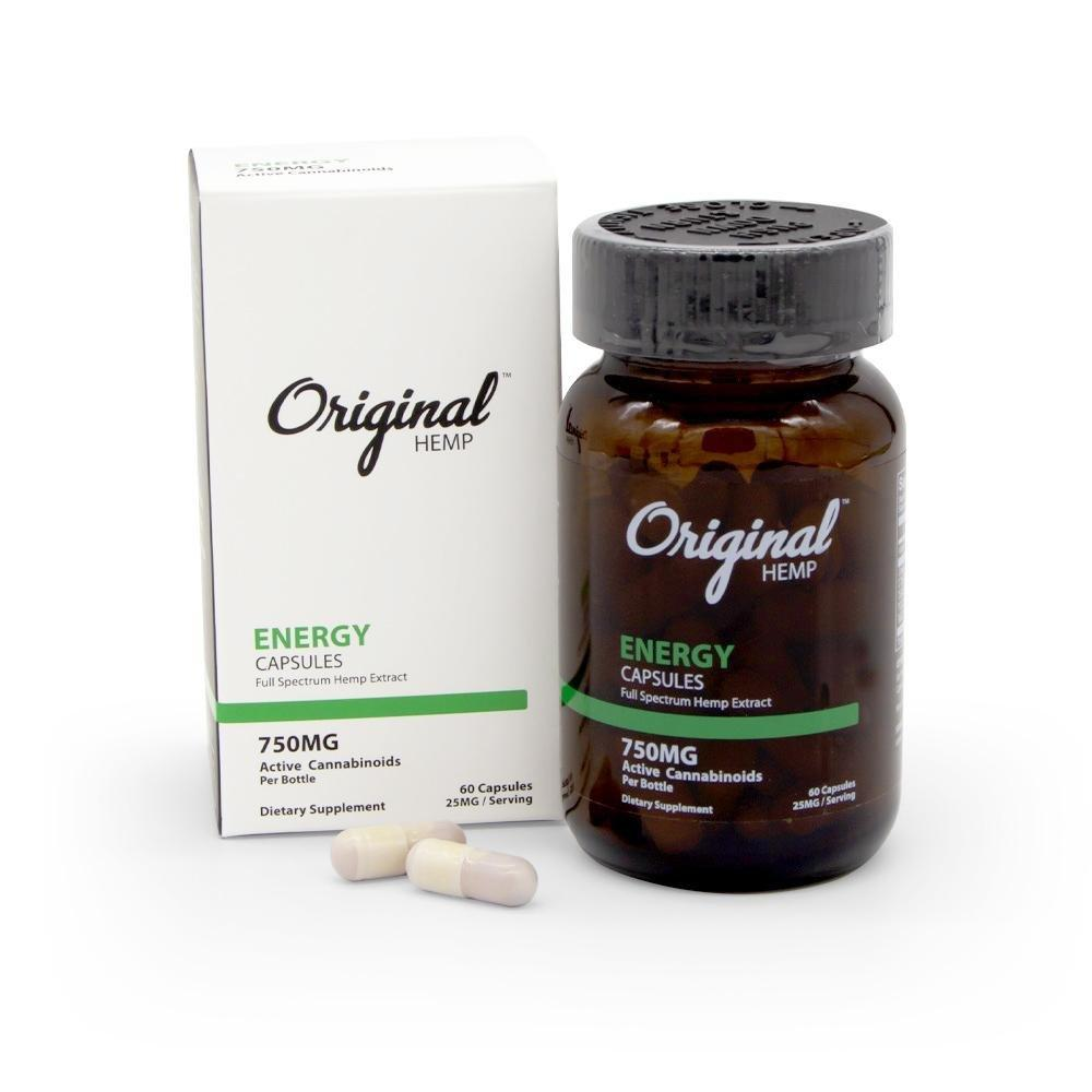 Original Hemp 750mg Energy Capsules