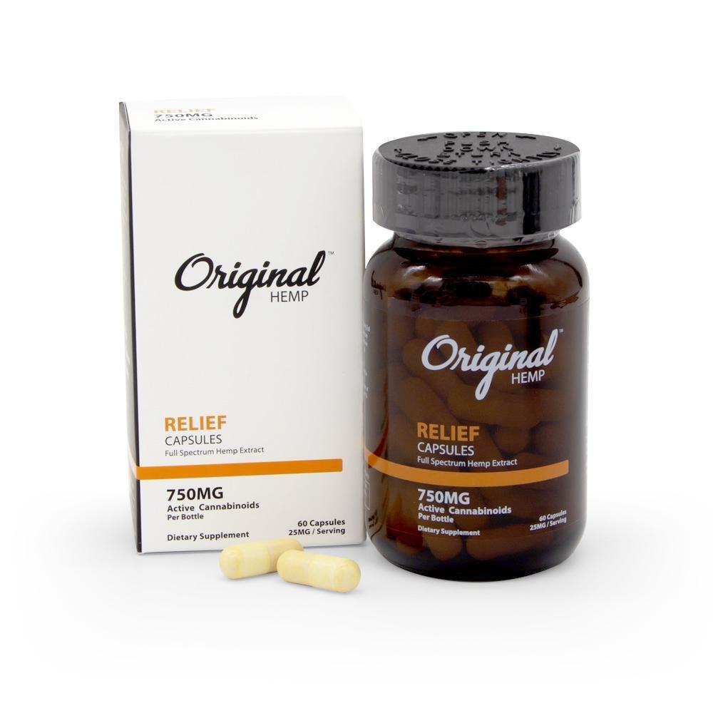Original Hemp 750mg Relief Capsules