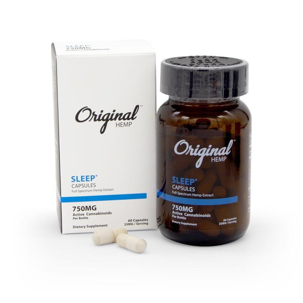 Original Hemp 750mg Sleep Capsules