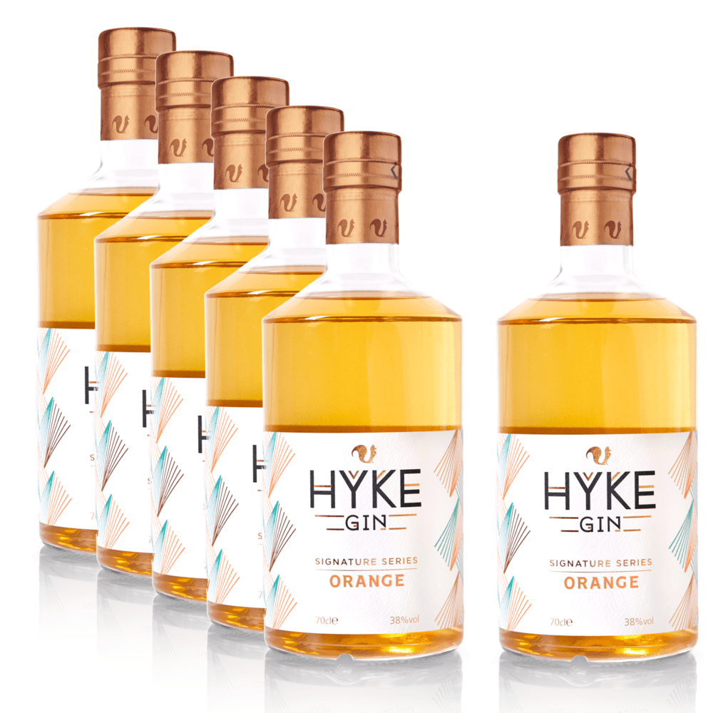 Foxhole Spirits HYKE Gin Signature Series - Orange 70cl Case of 6