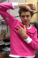 PINK LONGSLEEVE RINGER YOUNG