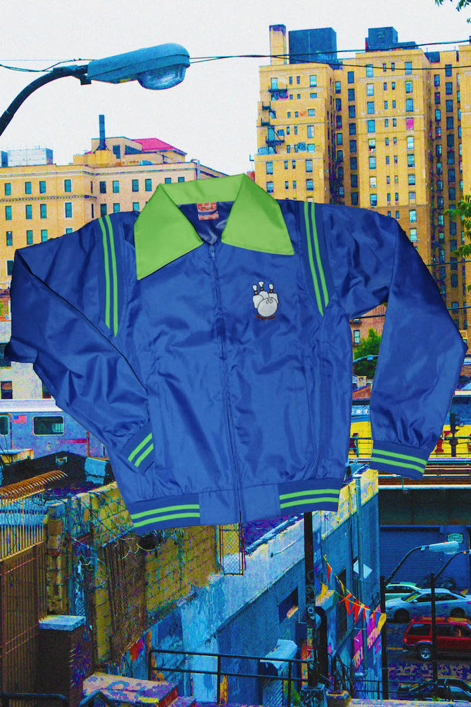 Blue Bowling Jacket