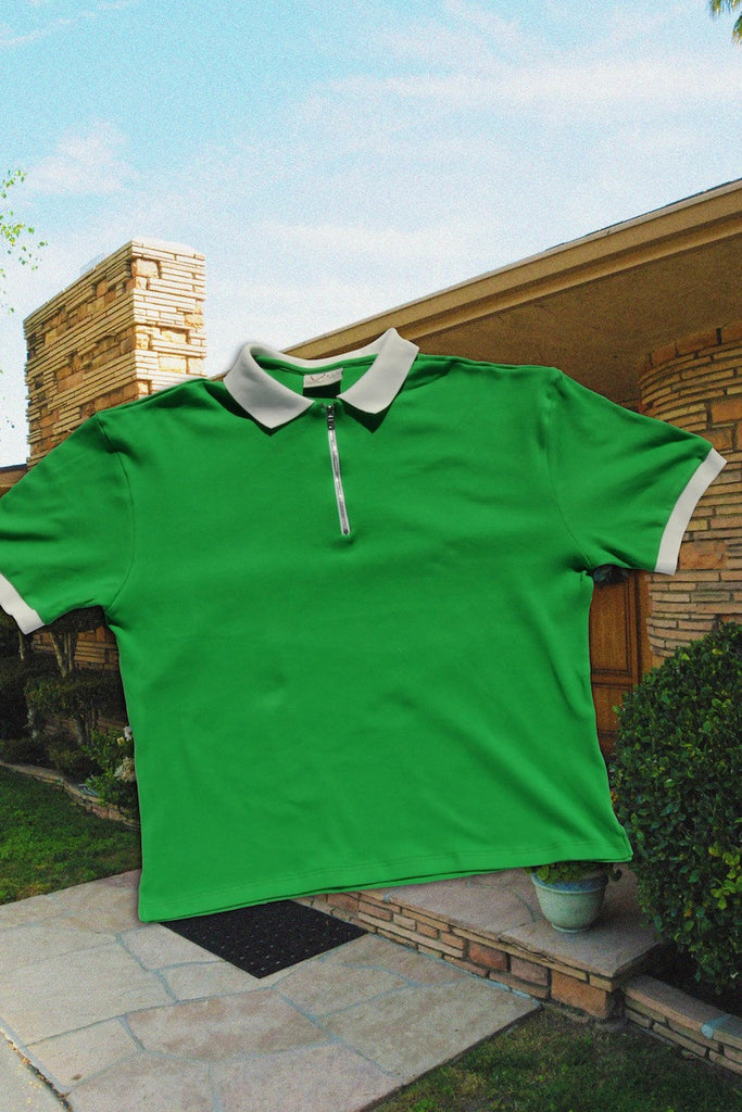 GREEN ILLEGAL CIV ZIP UP POLO
