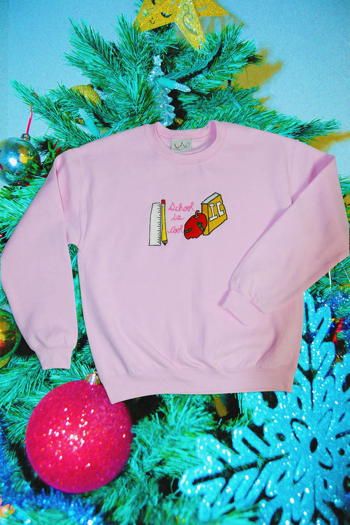 Pink School Is Cool Crewneck