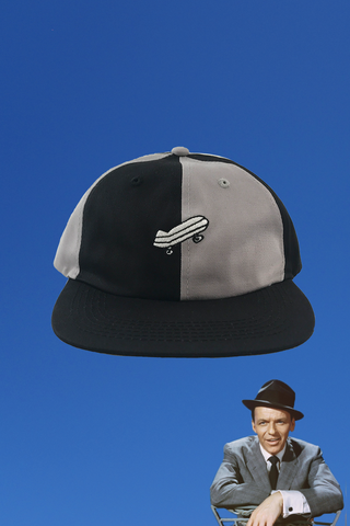 BLACK AND GREY SKATE HAT