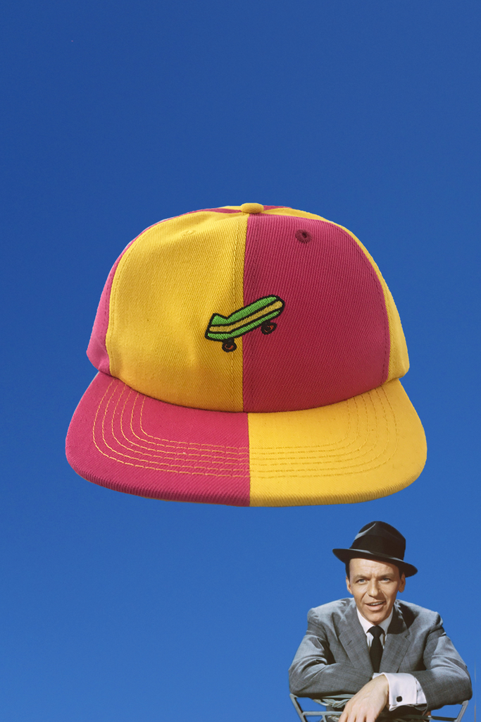 YELLOW AND PINK SKATE HAT