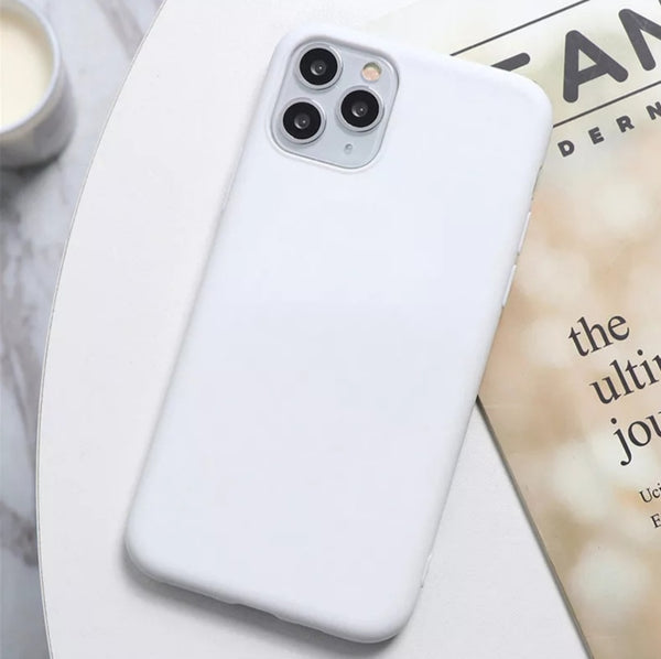 Simple Color Rubber Cover for iPhone 11