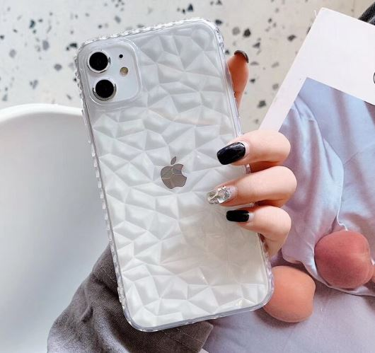 Diamond Rubber Cover for iPhone 11