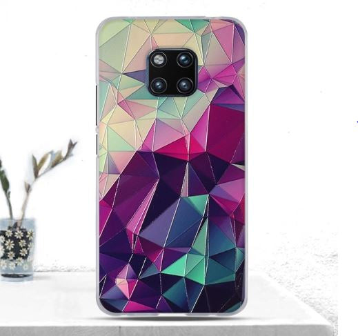 Geometric Rubber Cover for Huawei Mate 20 Pro