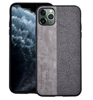 Hybrid Leather Rubber Cover for iPhone 11