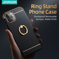Joyroom Black Metal Cover with Ring for iPhone 11