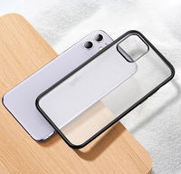 Luxury Plating Frame Matte Rubber Cover for iPhone 11