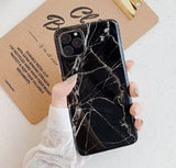Marble Rubber Cover for iPhone 11