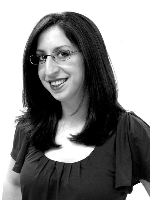 Elizabeth Petrakis, Lizz Petrakis, black and white photo, woman, glasses, owner, CEO, creator, maker