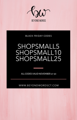 black friday codes for beyond words ct