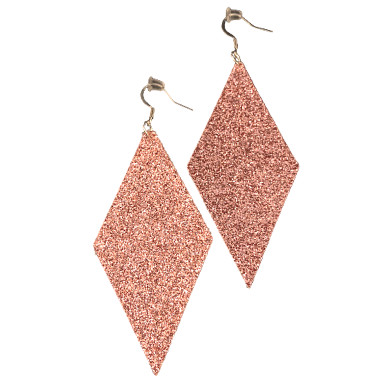 Dina | Faux Leather Earrings