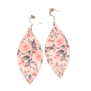 Meadow | Faux Leather Earrings