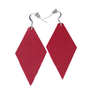 Brooke | Faux Leather Earrings