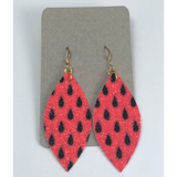 Chloe | Faux Leather Earrings