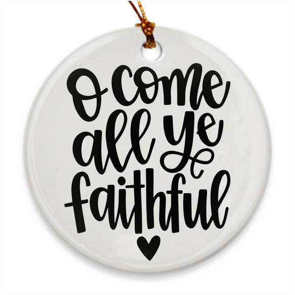 O Come All Ye Faithful | Double Sided