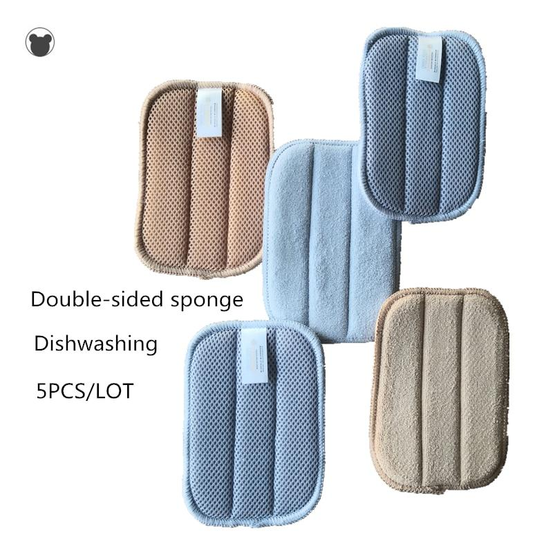 Kitchen sponge better than melamine sponge microfiber dishcloth double-sided magic sponge kitchen towels cleaning cloth - Saniplex Solutions