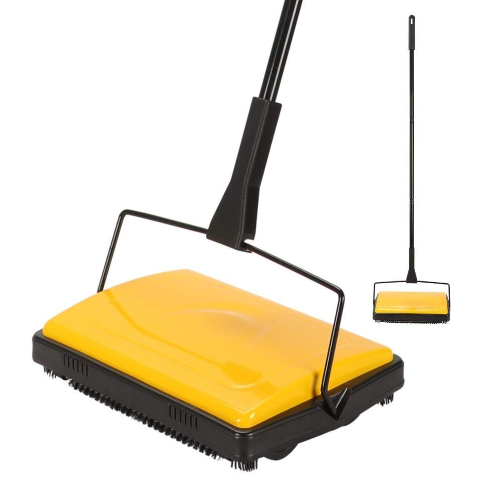 Carpet Floor Sweeper Cleaner for Home Office Carpets Rugs Undercoat Carpets Dust Scraps Paper Cleaning with Brush - Saniplex Solutions