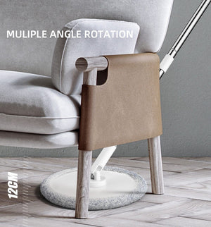 Magic Microfiber Mop With Round Bucket Adjustable Handle  Cleaner Carton Flow System 360 - Saniplex Solutions