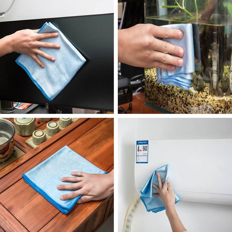 No Trace Absorbable 3 Size Soft Microfiber No Lint Window Car Rag Cleaning Towel Kitchen Cleaning Cloth Wipes Wipe Glass Cloth - Saniplex Solutions