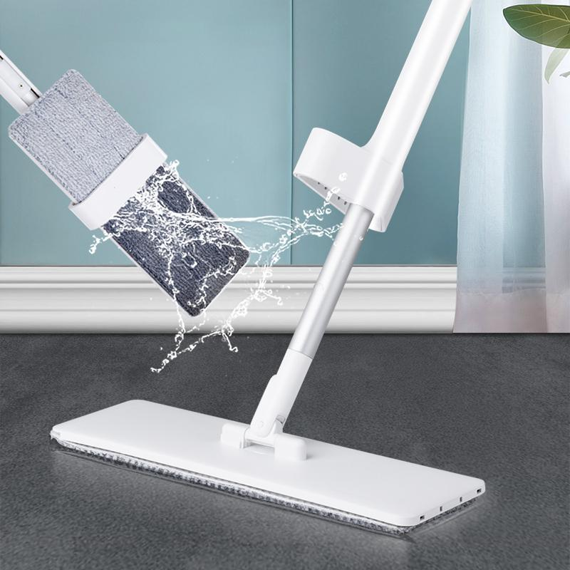 Easy Self Wringing Mop Lazy Flip Flat Mop 360 Spin - Saniplex Solutions