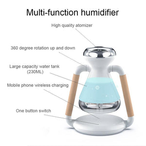 Electric Aroma air diffuser Mobile phone wireless charging Ultrasonic air humidifier - Saniplex Solutions