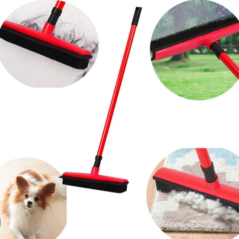 Floor Hair broom Dust Scraper & Pet rubber Brush Carpet carpet cleaner Sweeper No Hand Wash Mop Clean Wipe Window tool - Saniplex Solutions
