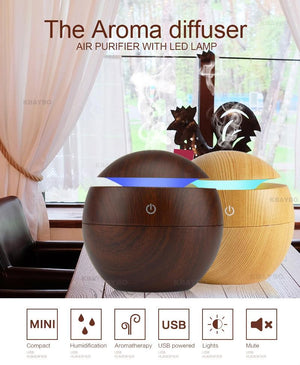 Mini USB Aroma Essential Oil Diffuser Ultrasonic Air Humidifier - Saniplex Solutions