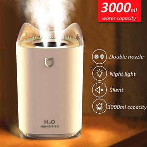 Home Air Humidifier  Double Nozzle Cool Mist - Saniplex Solutions