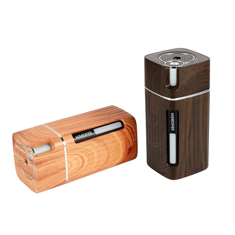 Portable Mini Humidifier Wood Grain 300ML Ultrasonic Home Car Air Diffuser - Saniplex Solutions
