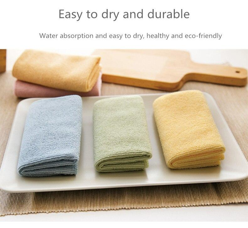 1/3PCS Microfiber kitchen towels Foaming net towel for kitchen household cloth Easy to clean table rag cloths with Bubble net - Saniplex Solutions