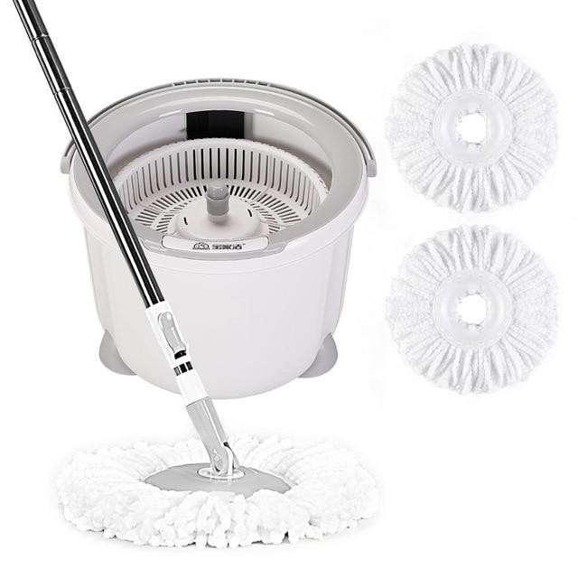 Mop with Bucket 360 Spin Adjustable Floor Mop with Wringer - Saniplex Solutions