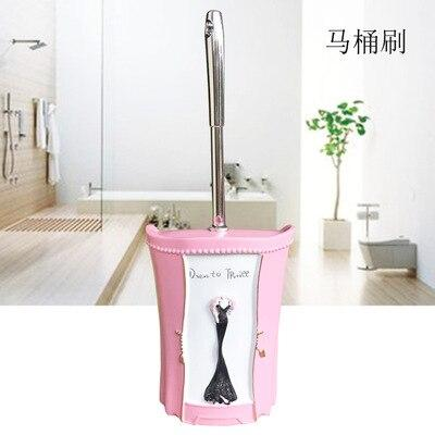 European Style Bathroom Toilet Brush Supplies Resin + Stainless Steel Long Handle Cleaning BrushBathroom Accessories - Saniplex Solutions