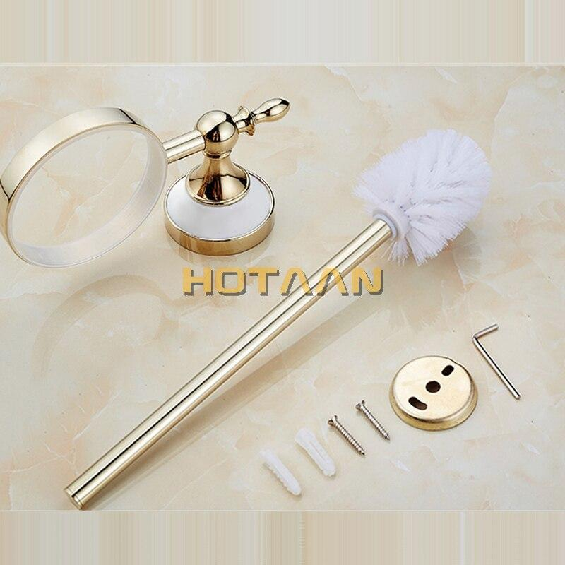 Toilet Brush Holder,ceramic + Solid Brass Construction Base ,Bathroom accessories - Saniplex Solutions