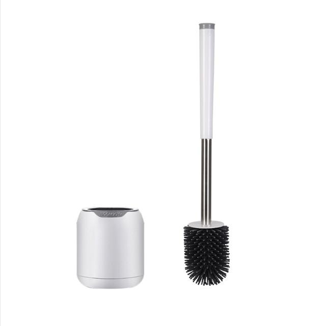 Antibacterial TPR Silicone Toilet Brush + Mount - Saniplex Solutions