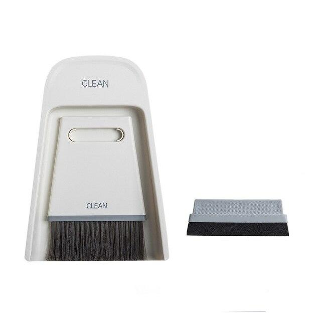 Mini Broom Combination Set Household Soft Fur Magic Small Broom Sweep Desktop Cleaning Brush Wiper To Scrape - Saniplex Solutions