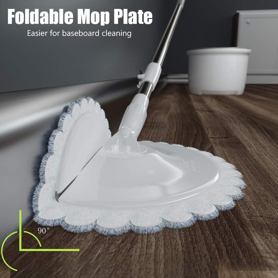 "Mop and Bucket, 2 in 1 Microfiber EasyWring Floor Cleaning System, 50"" Stainless Steel Handle - Saniplex Solutions"