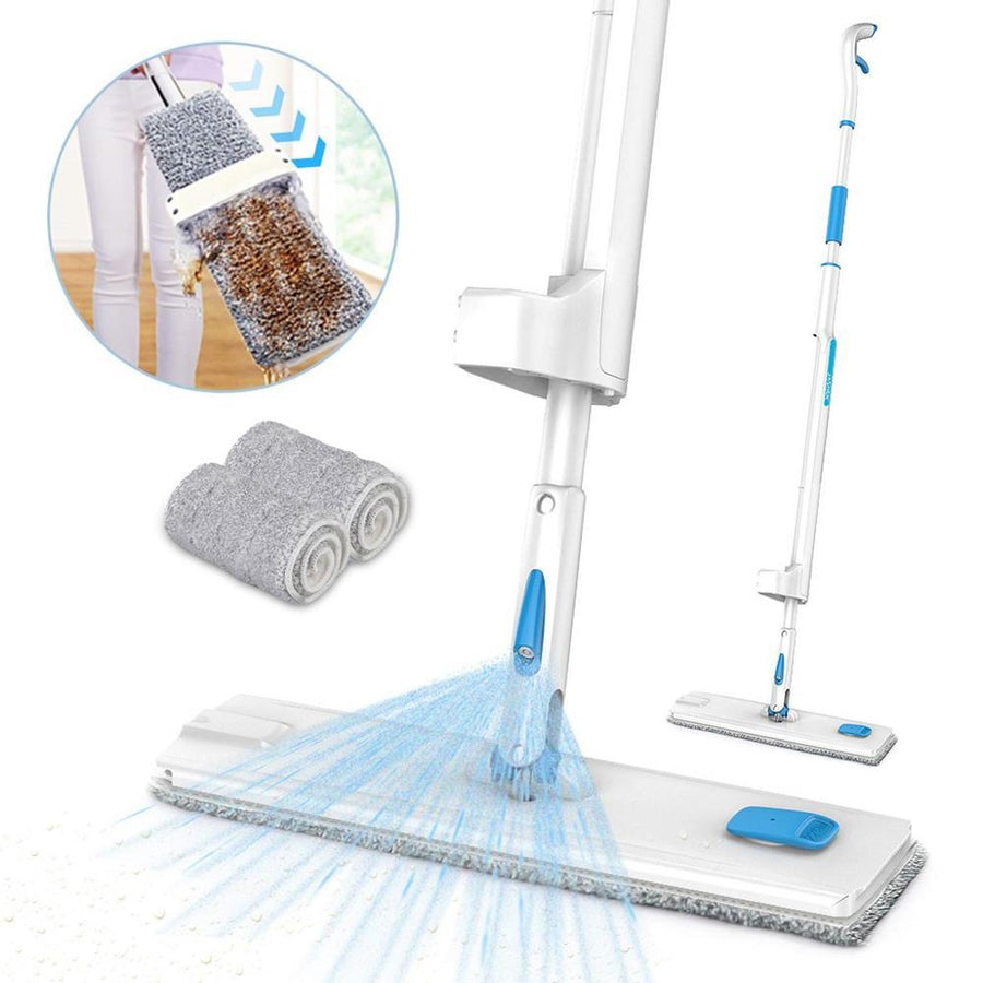 Spray Mop with 2PCS Reusable Microfiber Mop Pads 360 Degree Handle Mop for Home Laminate Wood Tiles Floor Cleaning - Saniplex Solutions