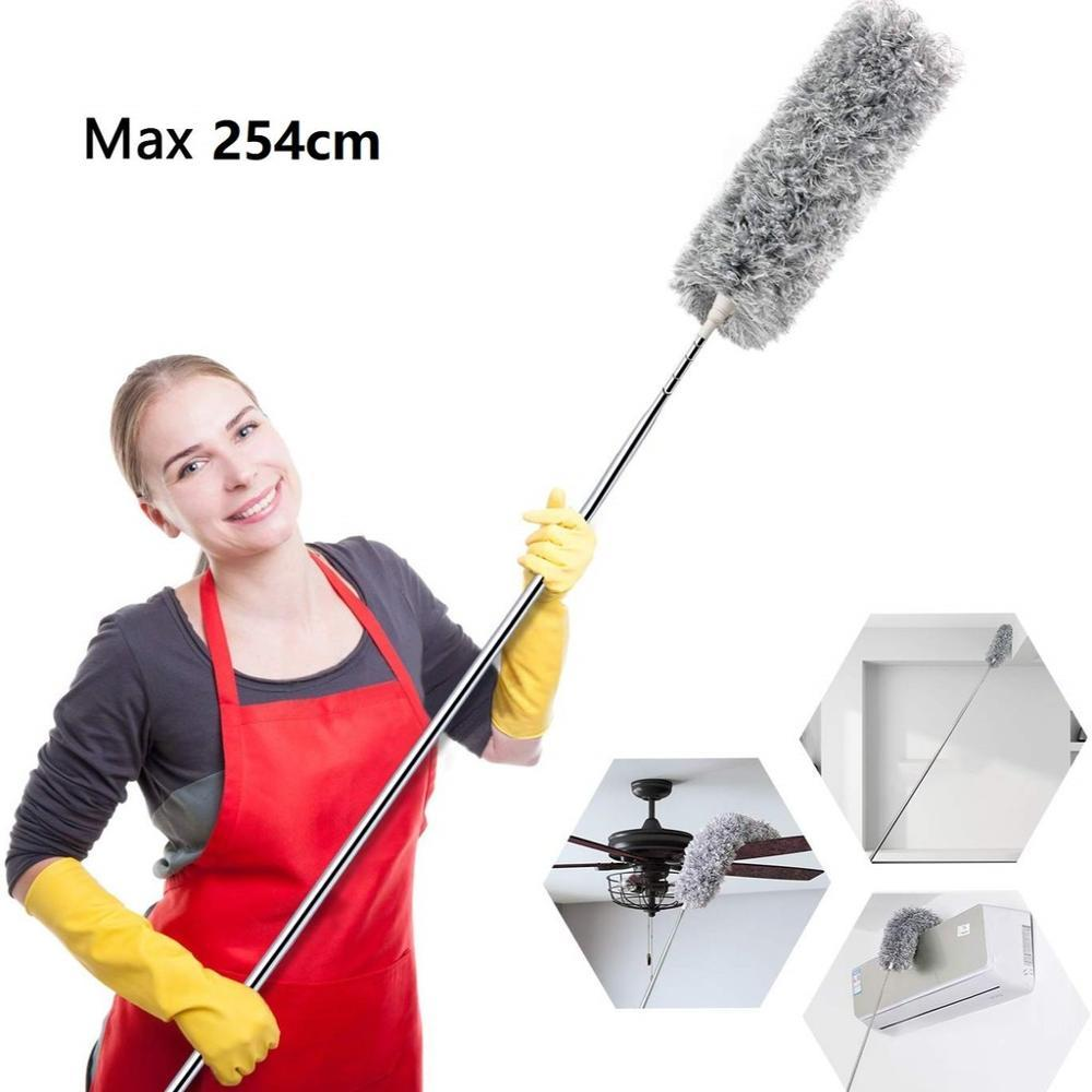 Microfiber Duster with  Extendable Long Handle  Rotating Head  for Car Home Kitchen Office Cleaning - Saniplex Solutions
