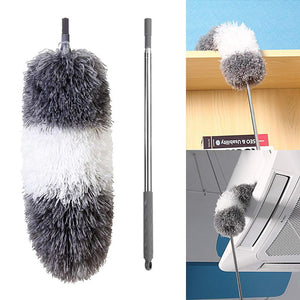 Microfiber Telescoping Duster  Extendable Scratch-Resistant Cover Stainless Steel Pole Bendable Head Washable