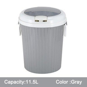 Pressing Cover Type Kitchen Waste Bin Sitting Room Toilet Multi-Purpose Bathroom/Bedroom Trash Can