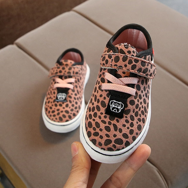 Leopard Print Girls Trainers (3 Colours